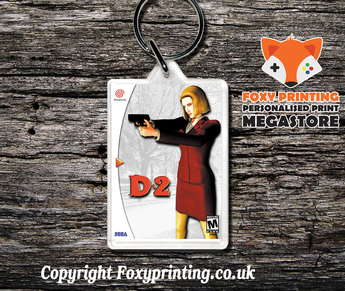 D2 - Sega Dreamcast Game Keyring