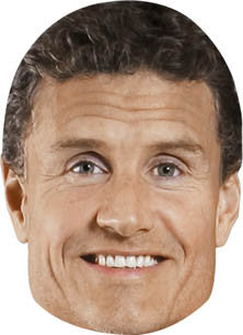 David Coultard FORMULA 1 Celebrity Face Mask FANCY DRESS HEN BIRTHDAY PARTY FUN STAG DO HEN