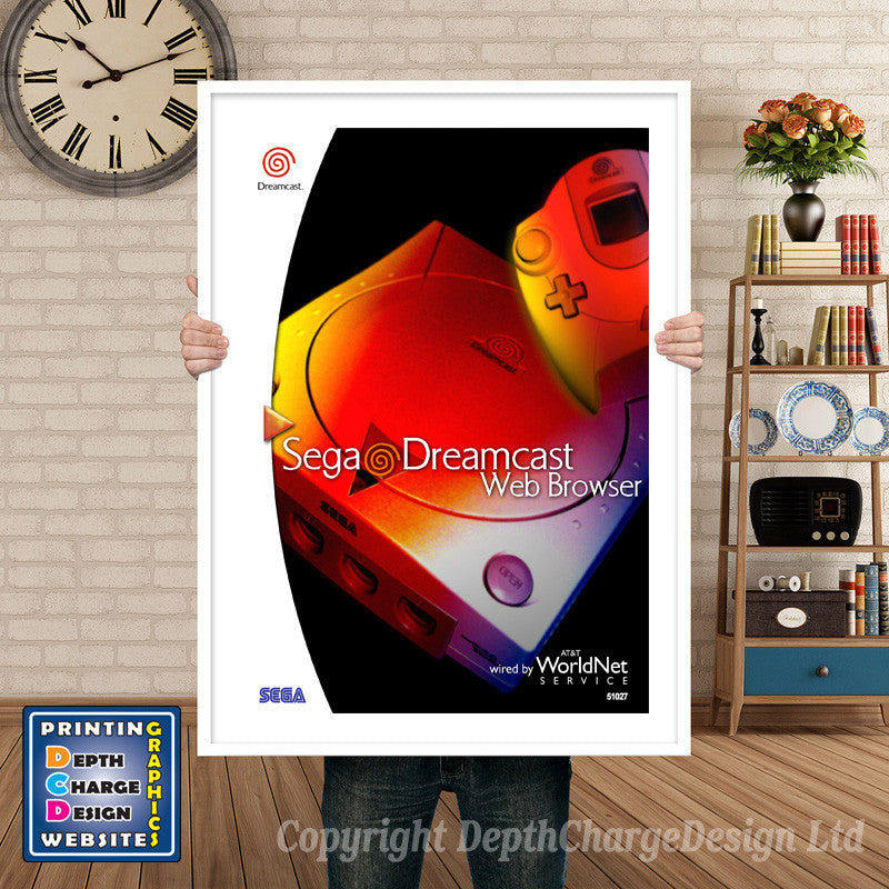 Web Browser - Sega Dreamcast Inspired Retro Gaming Poster A4 A3 A2 Or A1