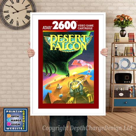 Desert Falcon 2 - Atari 2600 Inspired Retro Gaming Poster A4 A3 A2 Or A1