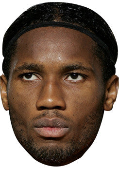 Didier Drogba FOOTBALL 2018 Celebrity Face Mask FANCY DRESS HEN BIRTHDAY PARTY FUN STAG DO HEN