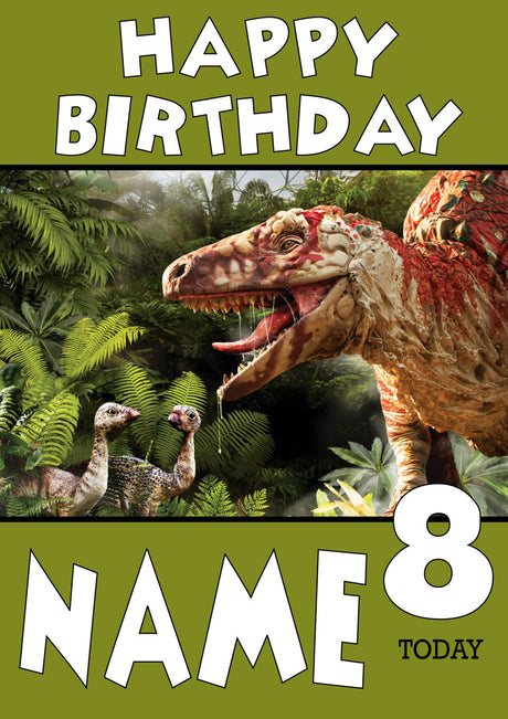 Personalised Dinosaur Kids Adult FUNNY Birthday Card