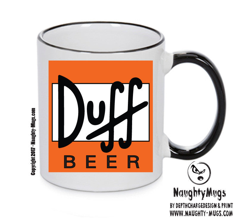 Duff Beer Simpsons Orange Funny Mug Adult Mug Gift Office Mug Funny Humour
