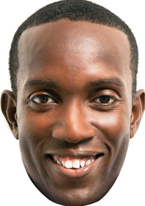 Dwight Yorke Celebrity Face Mask FANCY DRESS HEN BIRTHDAY PARTY FUN STAG DO HEN