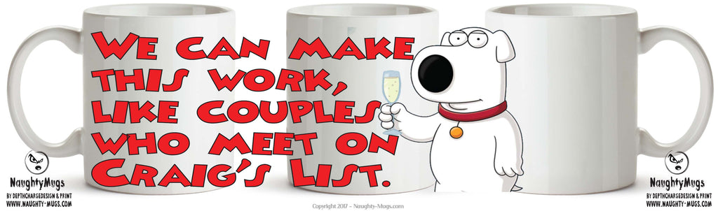 Family Guy INSPIRED Theme Style MEET ON CRAIGS LIST TV SHOW MUG