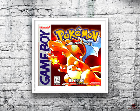 Pokemon Red Game Style Inspired Retro Gaming Poster A2 A3 Or A4
