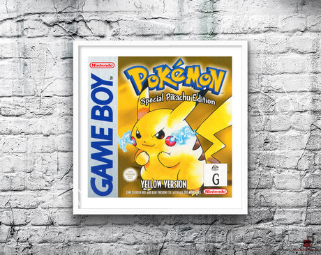 Pokemon Yellow Au Game Style Inspired Retro Gaming Poster A2 A3 Or A4