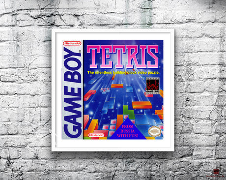 Tetris 2 Game Style Inspired Retro Gaming Poster A2 A3 Or A4