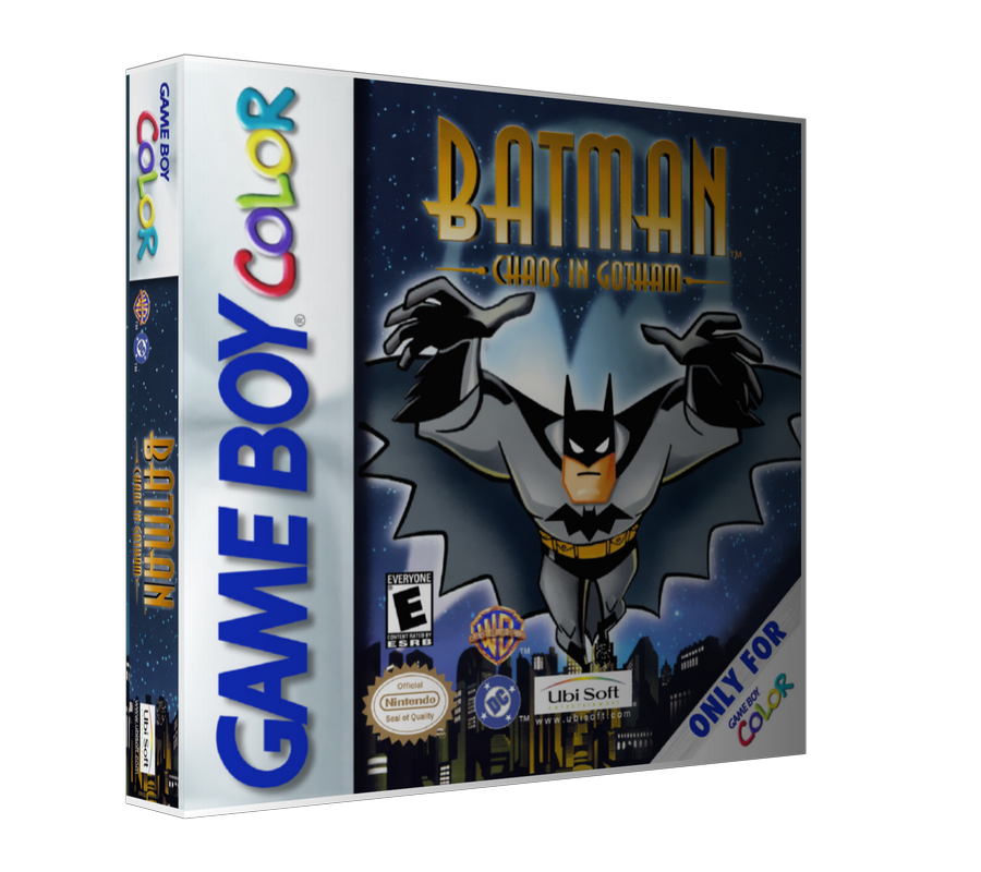 Gameboy Color Batman Chaos In Gotham Game Cover To Fit A UGC Style Replacement Game Case