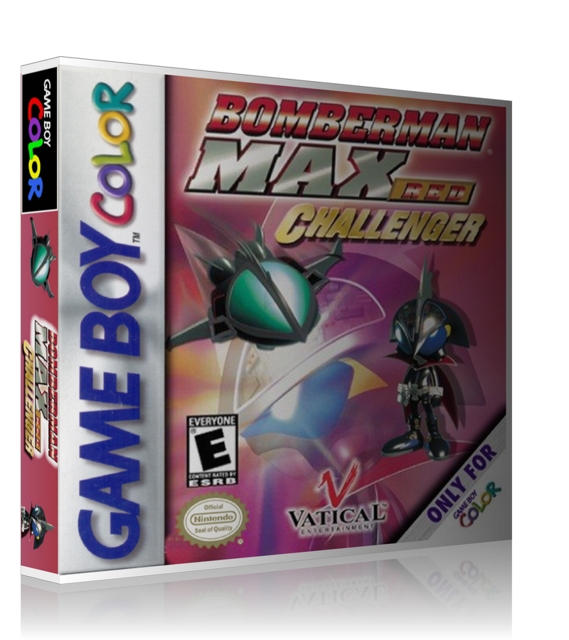 Gameboy Color Bomberman Max Red Challenger Game Cover To Fit A UGC Style Replacement Game Case