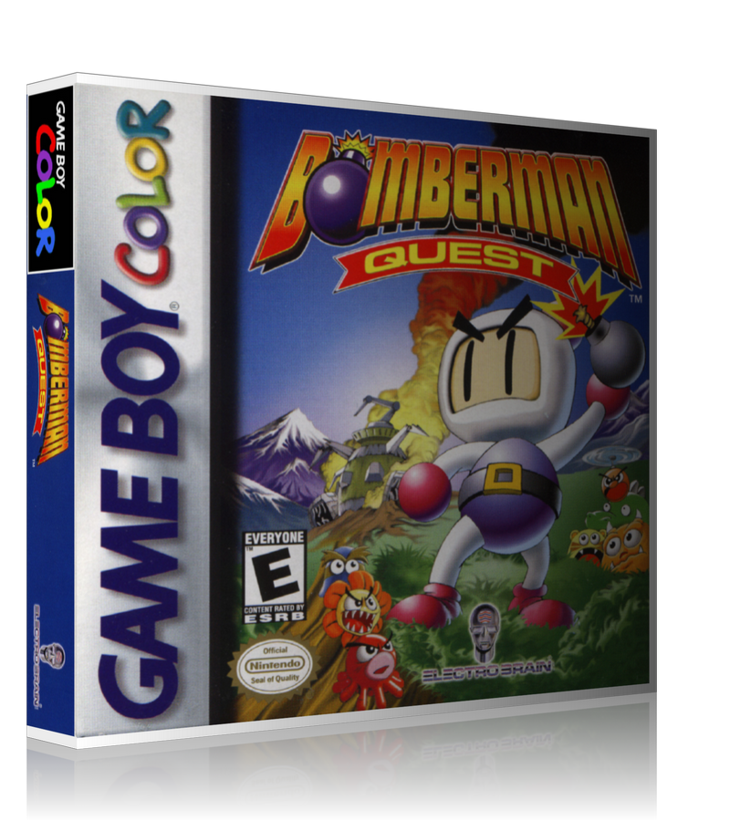 Gameboy Color Bomberman Quest Game Cover To Fit A UGC Style Replacement Game Case