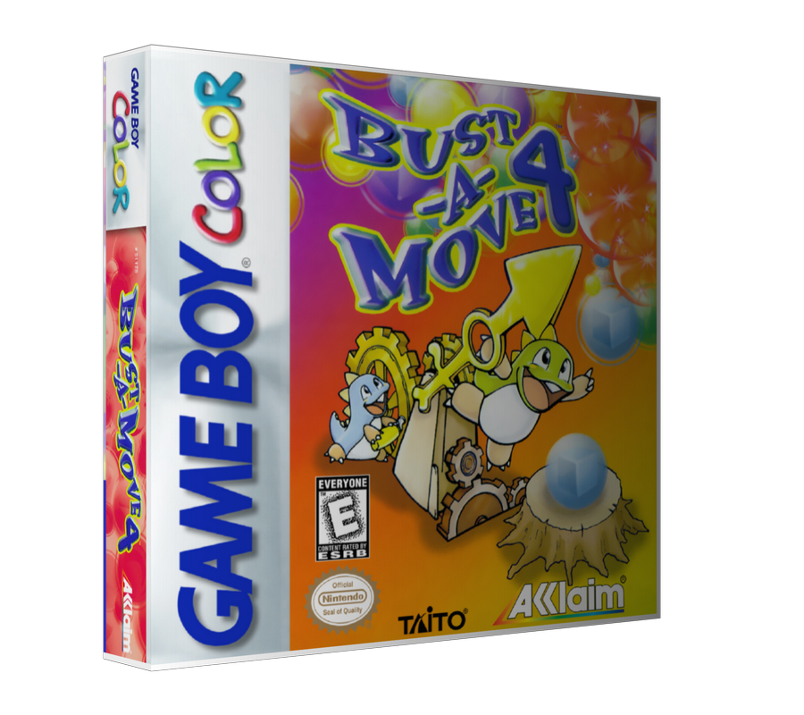 Gameboy Color Bust A Move 4 Game Cover To Fit A UGC Style Replacement Game Case