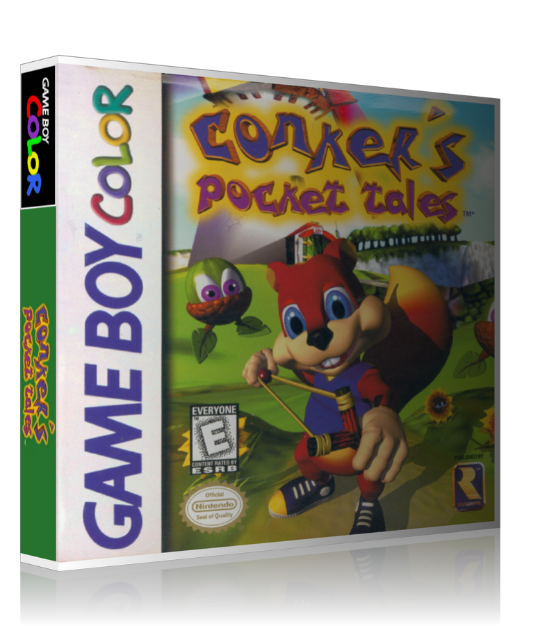 Gameboy Color Conkers Pocket Tales Game Cover To Fit A UGC Style Replacement Game Case