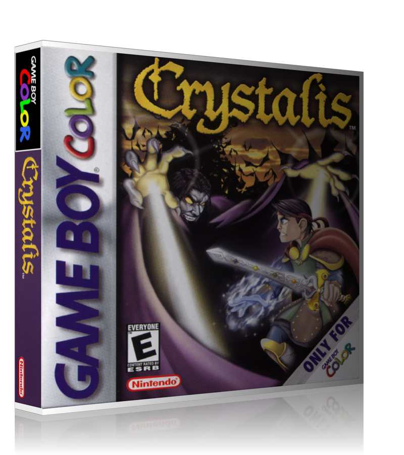 Gameboy Color Crystalis Game Cover To Fit A UGC Style Replacement Game Case