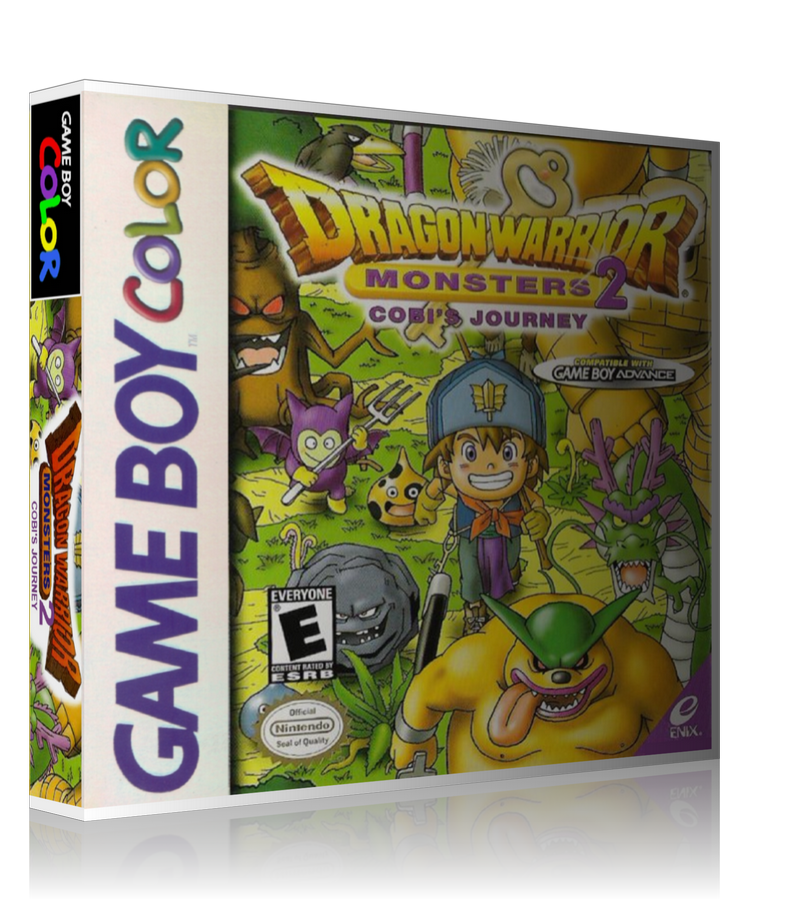 Gameboy Color Dragon Warrior Monsters 2 Cobis Journey Game Cover To Fit A UGC Style Replacement Game Case