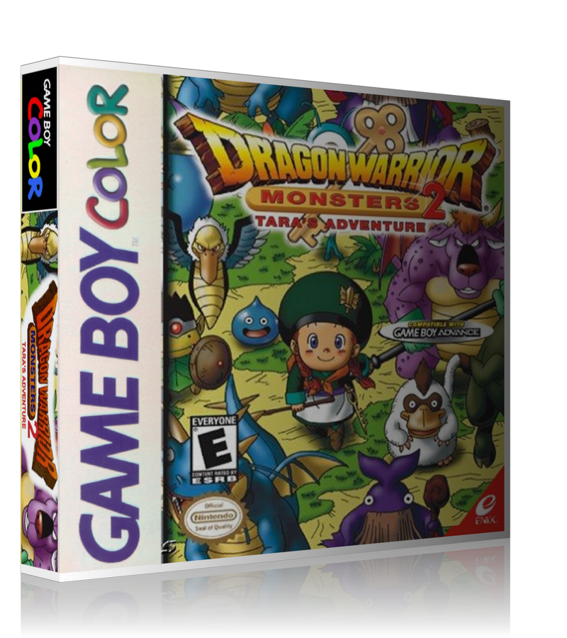 Gameboy Color Dragon Warrior Monsters 2 Taras Adventure Game Cover To Fit A UGC Style Replacement Game Case