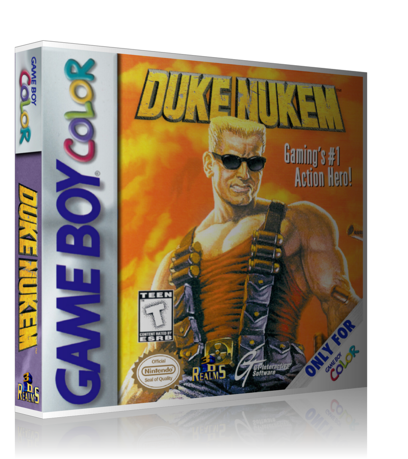 Gameboy Color Dukenukem Gamings #1 Action Hero! Game Cover To Fit A UGC Style Replacement Game Case