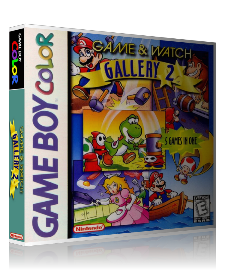 Gameboy Color Game And Watch Gallery 2 Game Cover To Fit A UGC Style Replacement Game Case