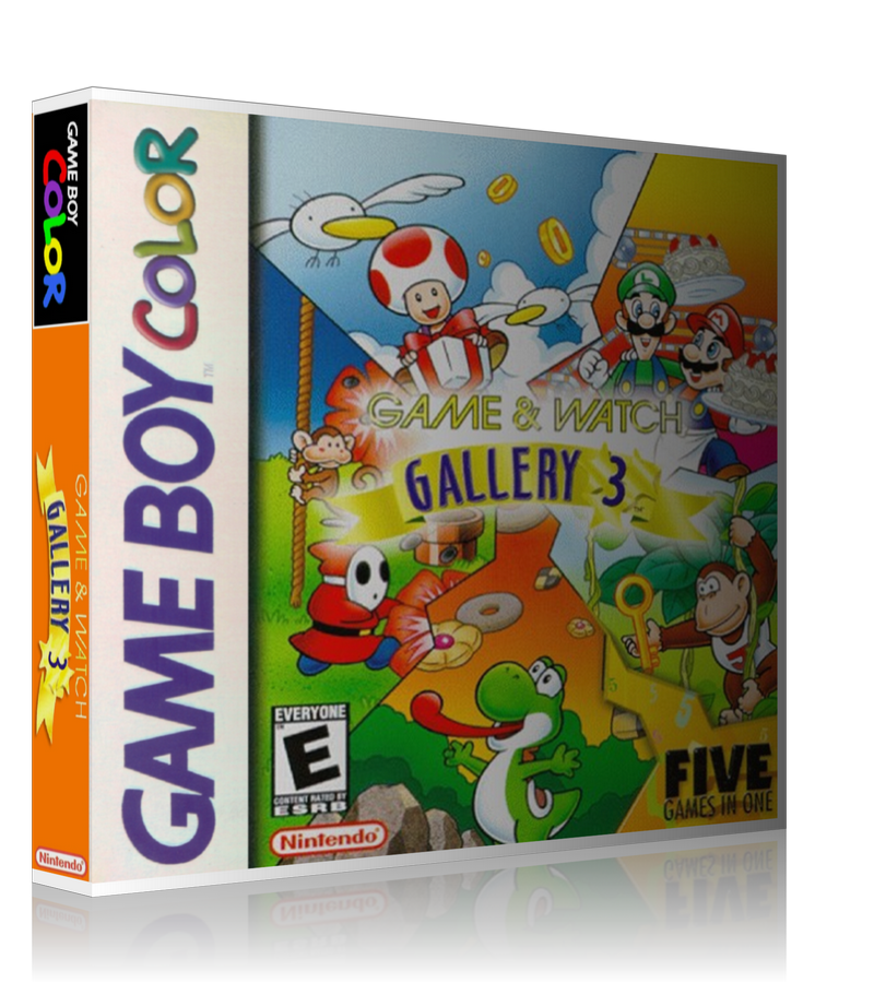 Gameboy Color Game And Watch Gallery 3 Game Cover To Fit A UGC Style Replacement Game Case