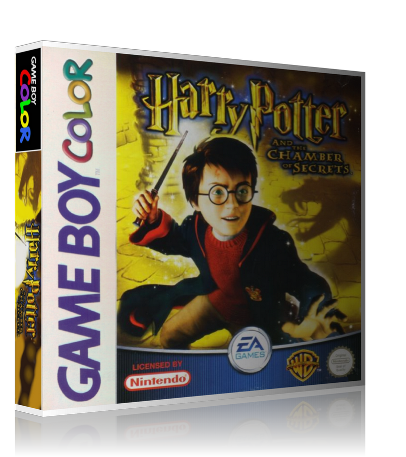 Gameboy Color Harry Potter And The Chamber Of Secrets Game Cover To Fit A UGC Style Replacement Game Case