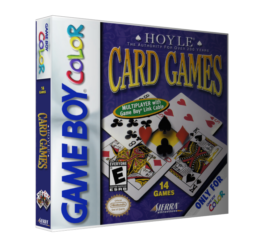 Gameboy Color Hoyle Card Games Game Cover To Fit A UGC Style Replacement Game Case