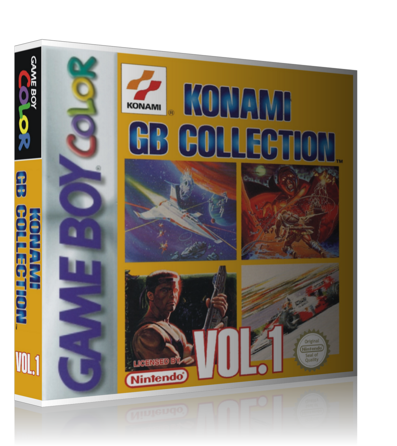 Gameboy Color Konami GB Collection Vol.1 Game Cover To Fit A UGC Style Replacement Game Case