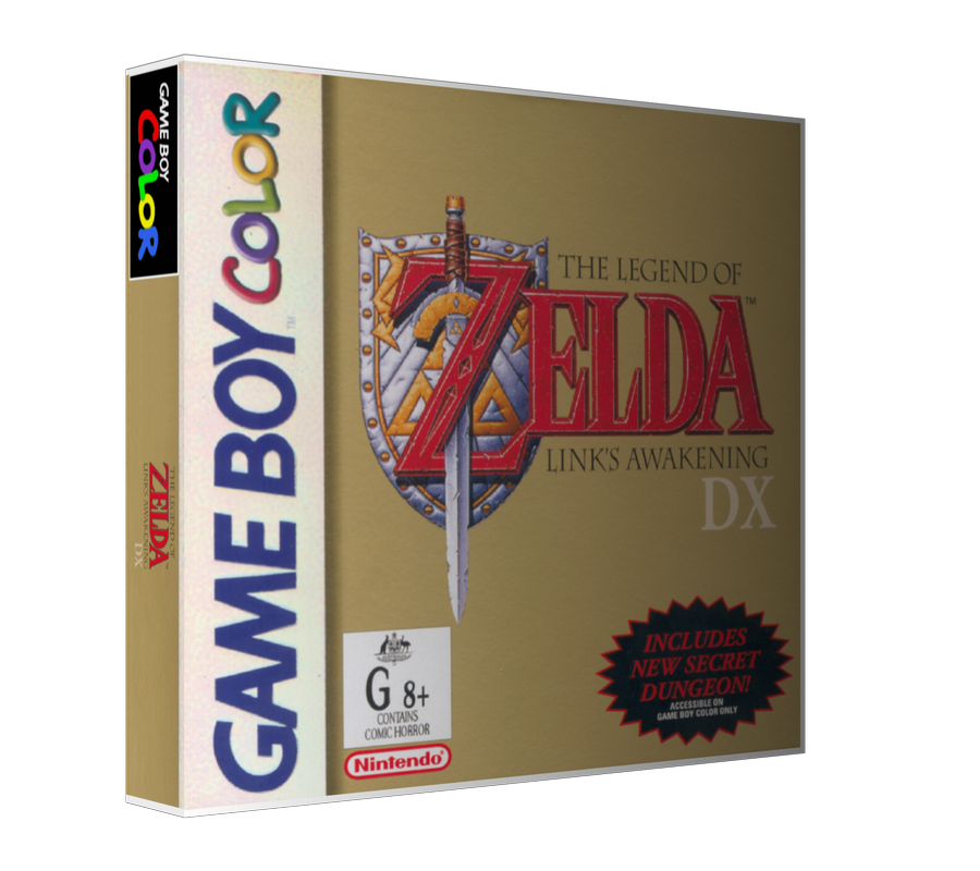 Gameboy Color Legend Of Zelda Links Awakening DX Game Cover To Fit A UGC Style Replacement Game Case