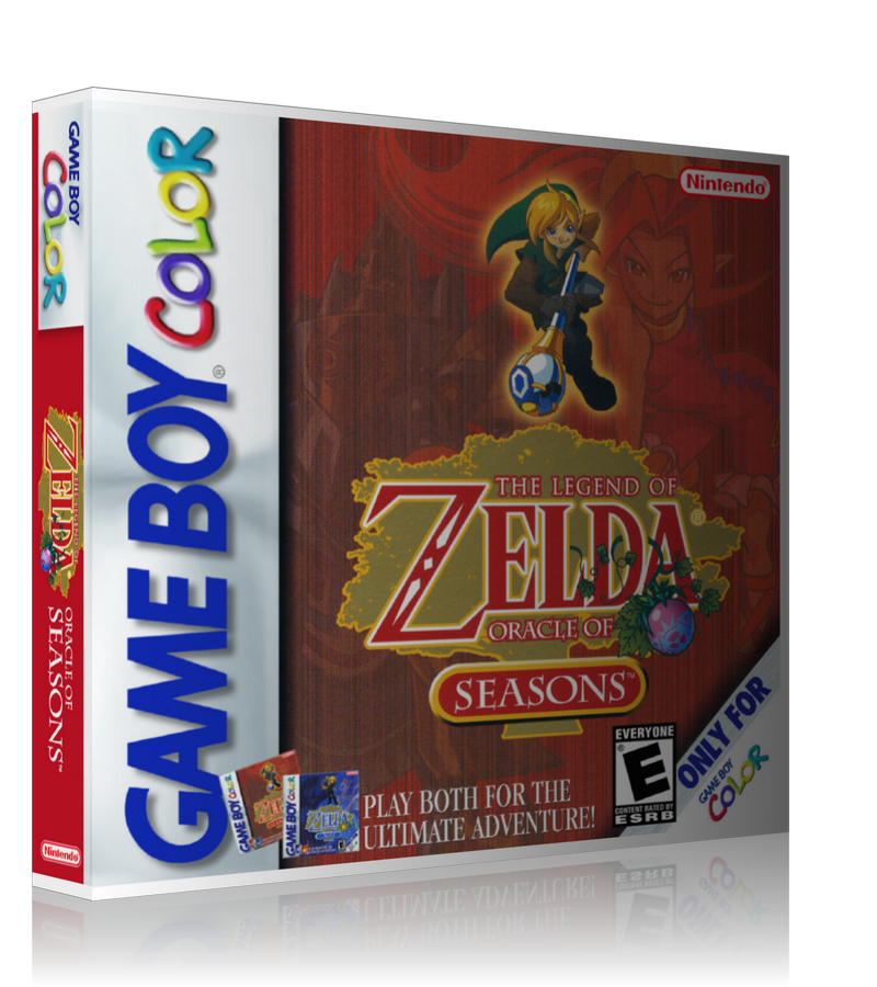 Gameboy Color Legend Of Zelda Oracle Of Seasonsthe Game Cover To Fit A UGC Style Replacement Game Case