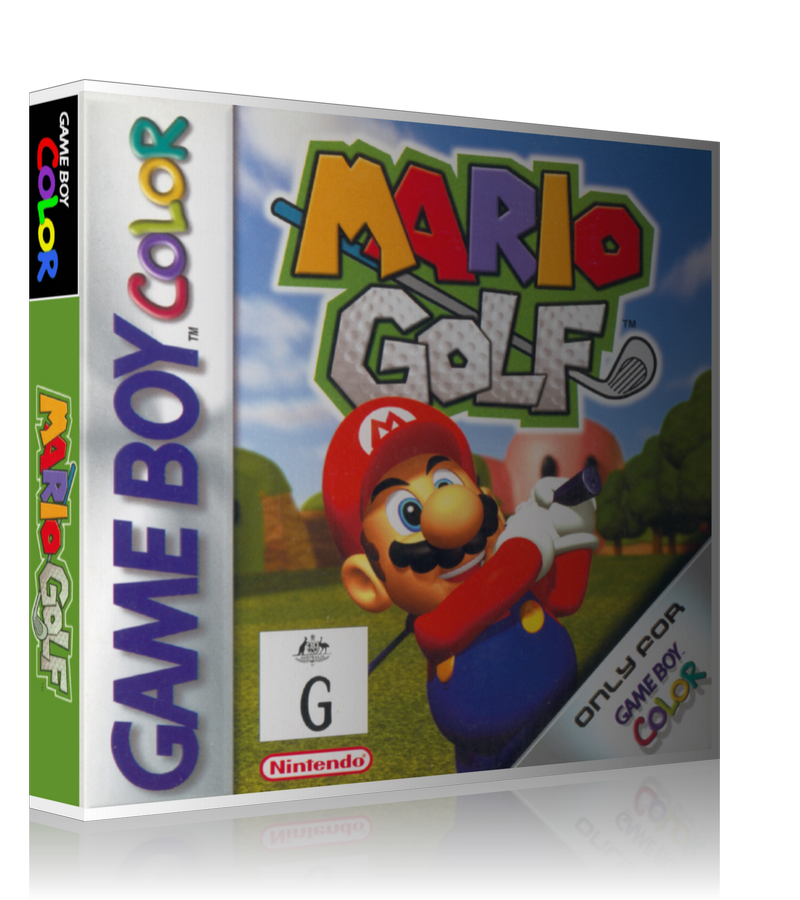 Gameboy Color Mario Golf Game Cover To Fit A UGC Style Replacement Game Case