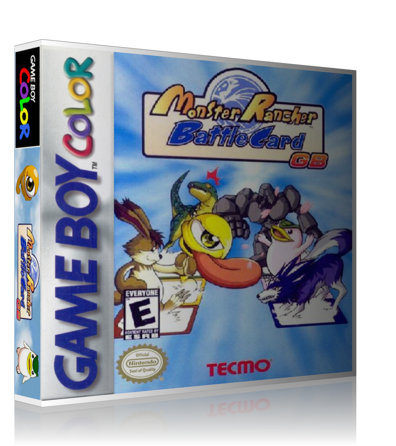 Gameboy Color Monster Rancher Battle Card GB Game Cover To Fit A UGC Style Replacement Game Case