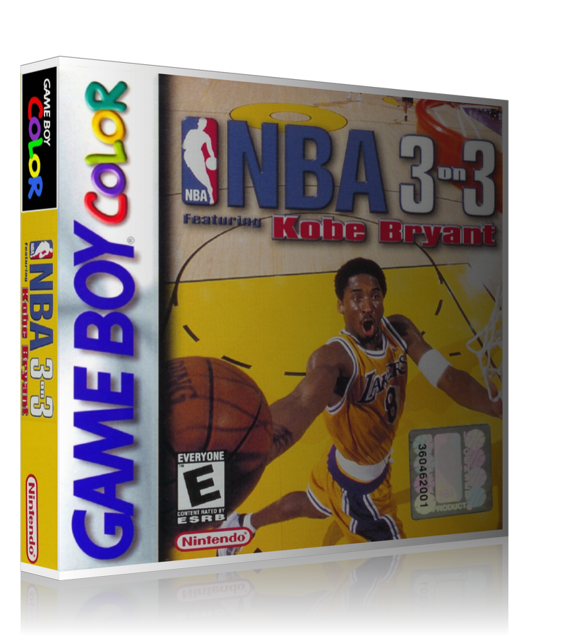 Gameboy Color NBA 3on3 Game Cover To Fit A UGC Style Replacement Game Case