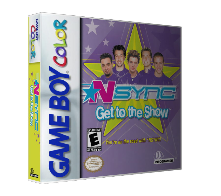 Gameboy Color Nsync Get To The Show Game Cover To Fit A UGC Style Replacement Game Case