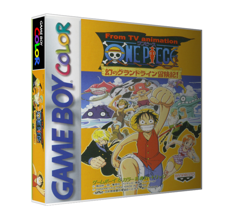Gameboy Color Onepiecemaboroshinograndlineboukenhen_Jp (1) Game Cover To Fit A UGC Style Replacement Game Case