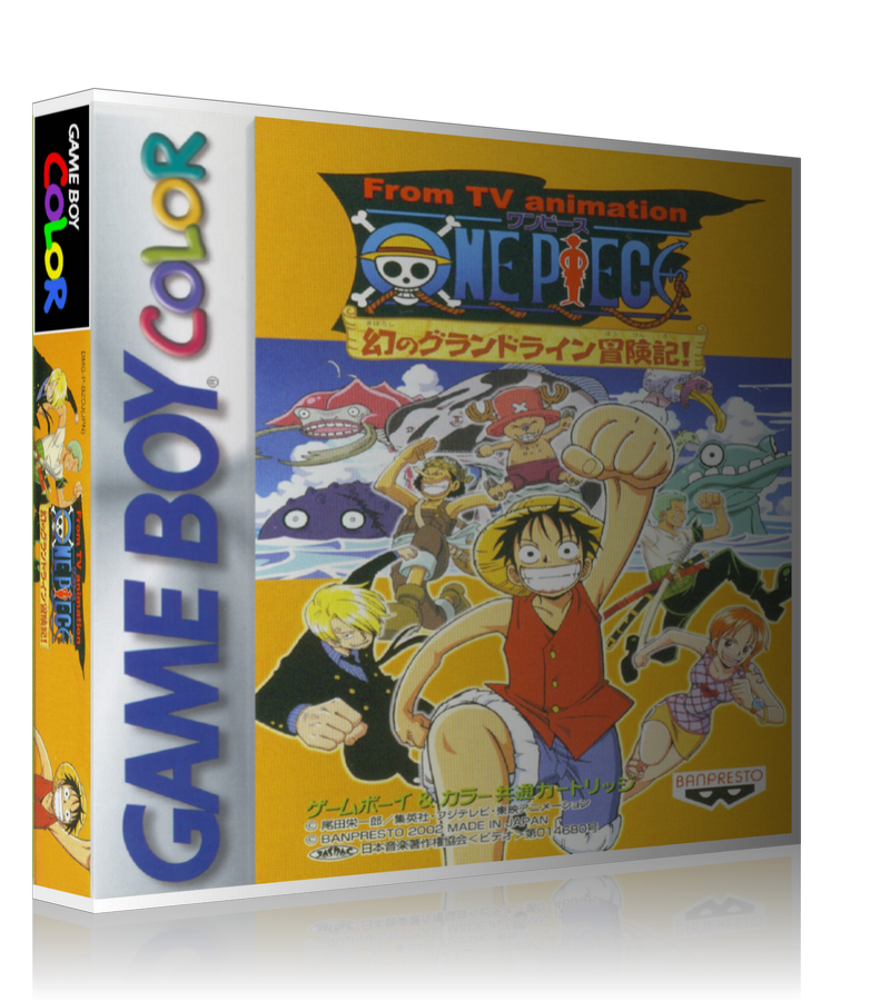 Gameboy Color Onepiecemaboroshinograndlineboukenhen_Jp Game Cover To Fit A UGC Style Replacement Game Case
