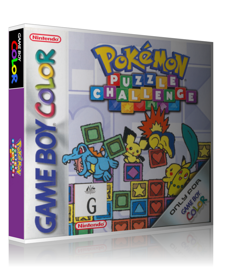 Gameboy Color Pokemon Puzzle Challenge Game Cover To Fit A UGC Style Replacement Game Case