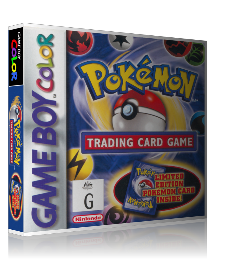 Gameboy Color Pokemon Trading Card Game Game Cover To Fit A UGC Style Replacement Game Case
