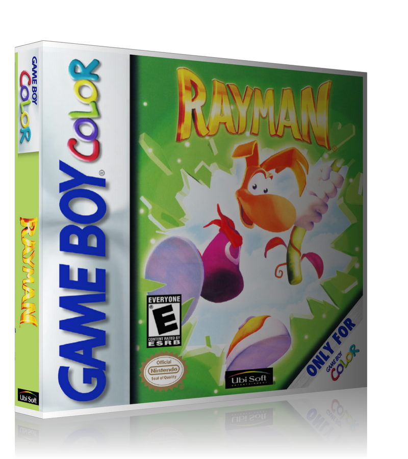 Gameboy Color Rayman Game Cover To Fit A UGC Style Replacement Game Case