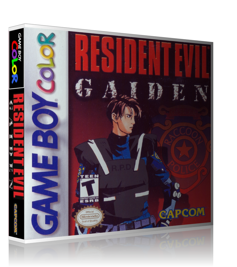 Gameboy Color Resident Evil Gaiden Game Cover To Fit A UGC Style Replacement Game Case