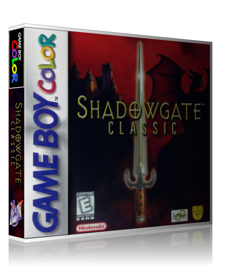 Gameboy Color Shadowgate Classic Game Cover To Fit A UGC Style Replacement Game Case