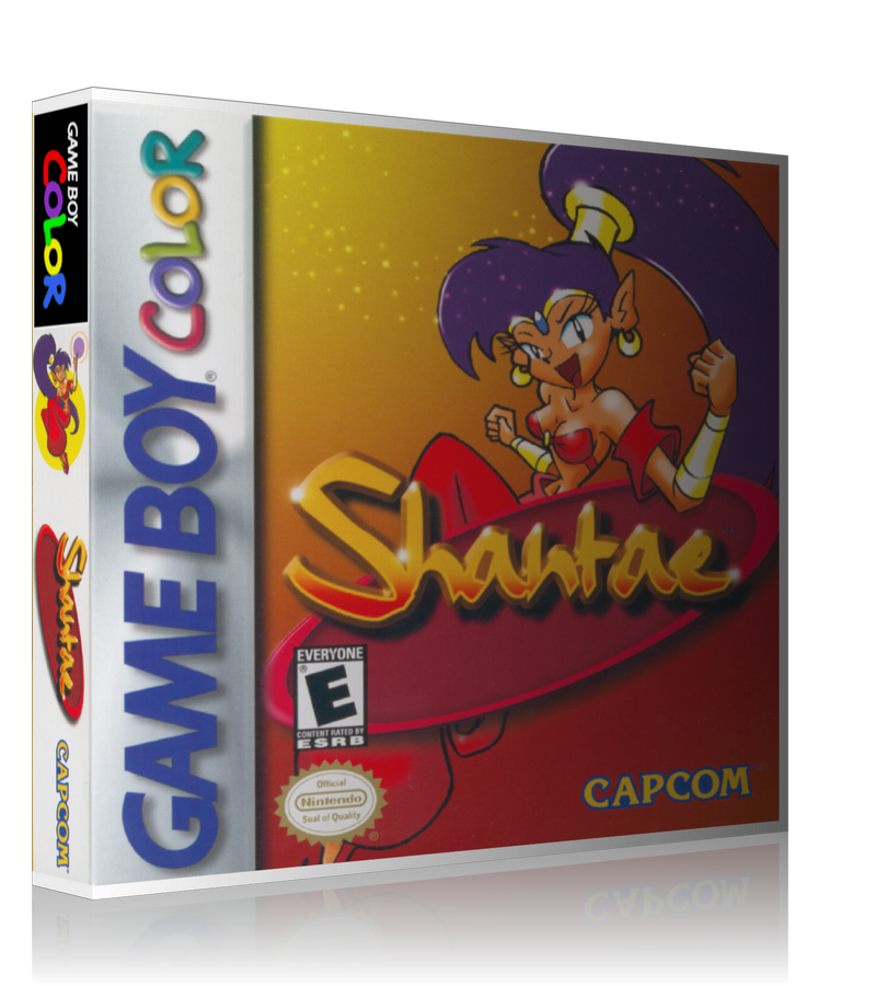 Gameboy Color Shantae Game Cover To Fit A UGC Style Replacement Game Case