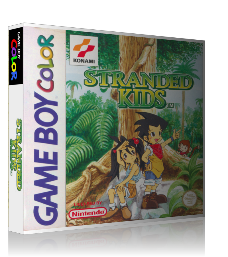 Gameboy Color Stranded Kids Game Cover To Fit A UGC Style Replacement Game Case