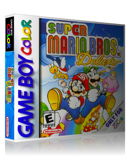 Gameboy Color Super Mario Bros. Deluxe Game Cover To Fit A UGC Style Replacement Game Case