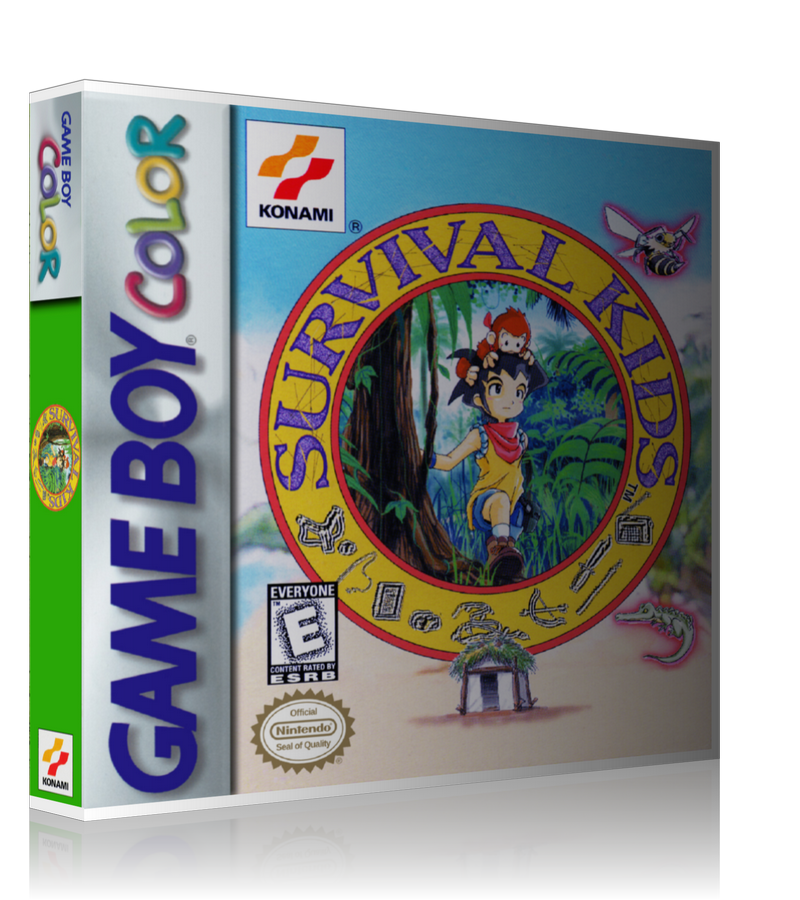 Gameboy Color Survival Kids Game Cover To Fit A UGC Style Replacement Game Case