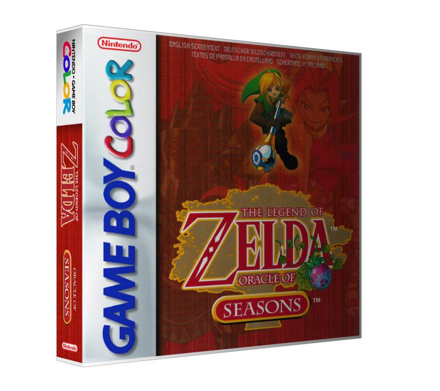 Gameboy Color The Legend Of Zelda Oracle Of Seasons Game Cover To Fit A UGC Style Replacement Game Case