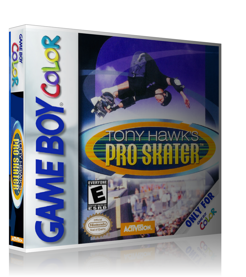 Gameboy Color Tony Hawks Pro Skater Game Cover To Fit A UGC Style Replacement Game Case