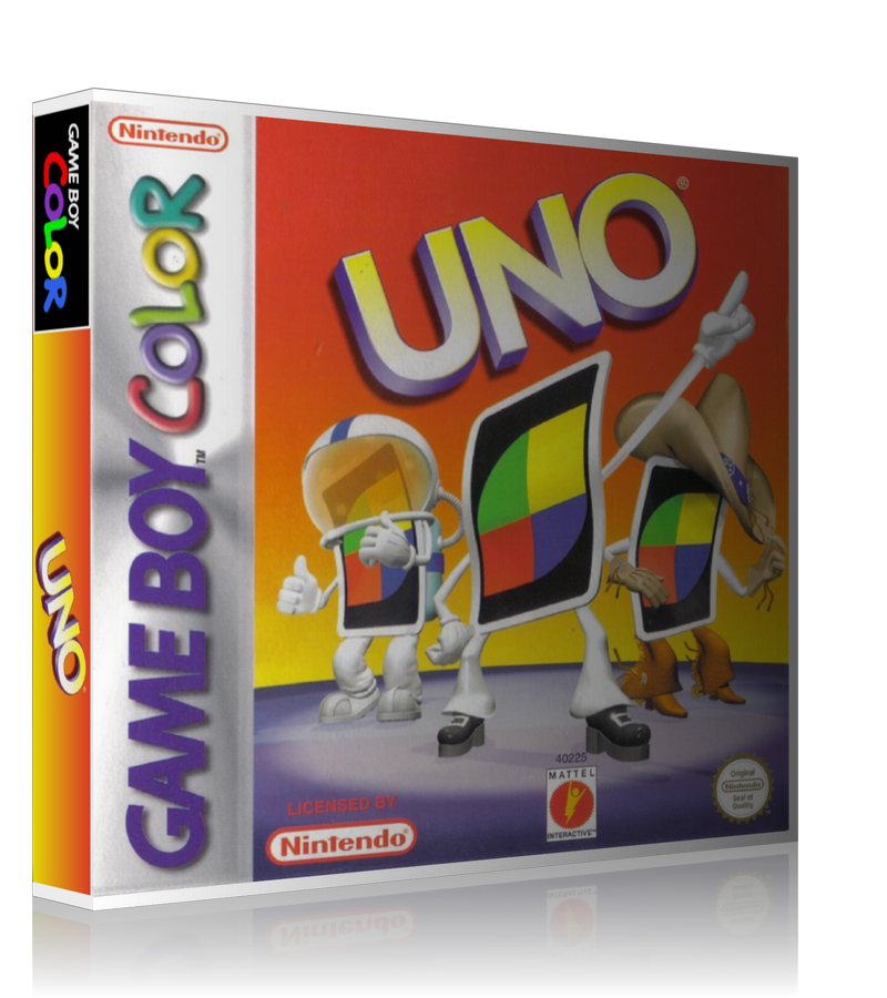 Gameboy Color UNO Game Cover To Fit A UGC Style Replacement Game Case