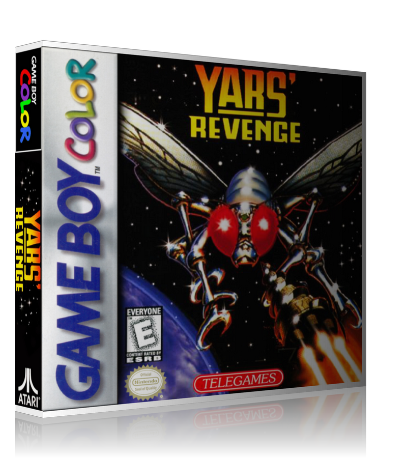 Gameboy Color Yars Revenge Game Cover To Fit A UGC Style Replacement Game Case