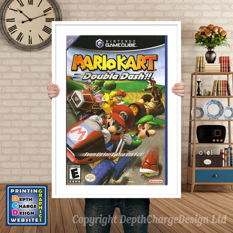 Mario Kart Double Dash Gamecube Inspired Retro Gaming Poster A4 A3 A2 Or A1
