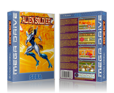 SEGA Genesis Alien Soldier Sega Megadrive REPLACEMENT GAME Case Or Cover
