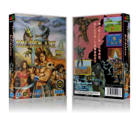 Genesis Golden Axe III Sega Megadrive REPLACEMENT GAME Case Or Cover